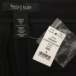 White House Black Market Pants - White House Black Market tapered cocoon crop pants